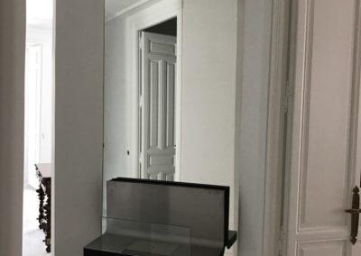 Espejo con chimenea polialcohol empotrada