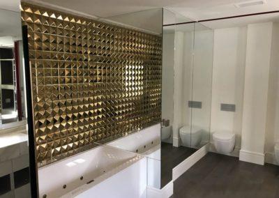 Forrado de pared en espejo - Ático calle serrano