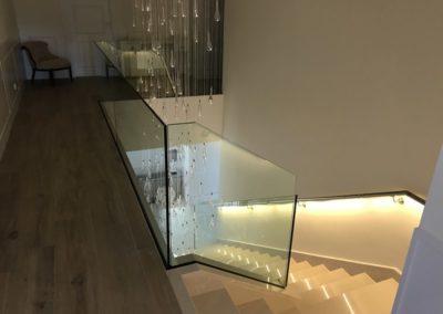 Barandilla y pasamanos con LED Q-railing interior - Las Rozas